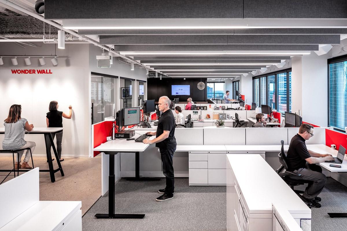 【黑白灰、升降桌】办公空间设计