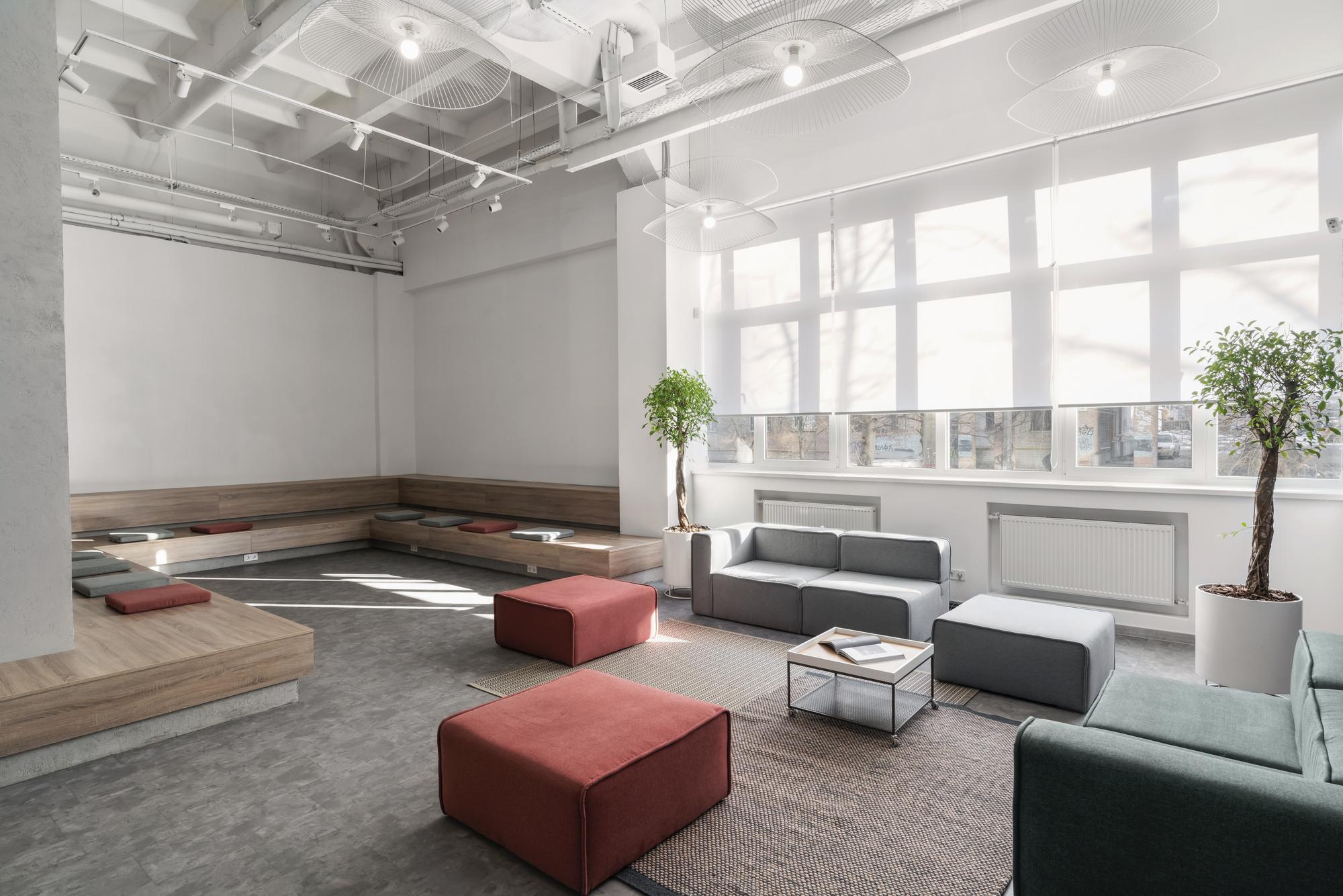 【工业风、阶梯座】办公空间设计