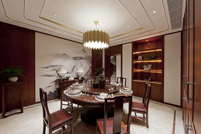 新中式风格,别墅装修,上海云之飞装潢