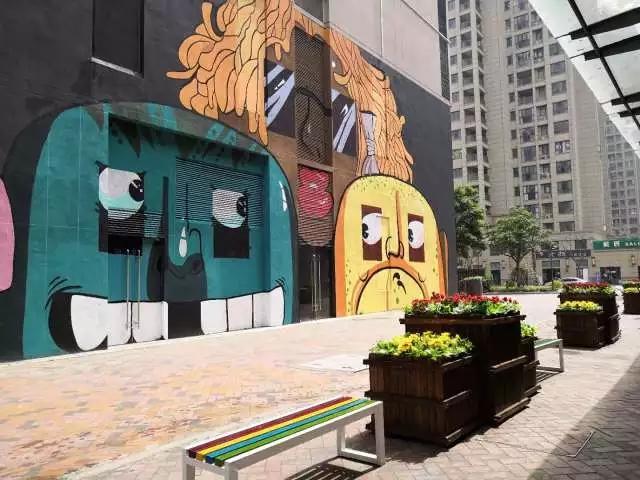 美食街彩绘