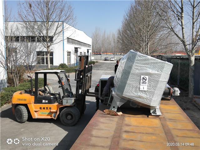 2020年3月14日广东广益科技实业有限公司定制的EG500造粒机已装车发出