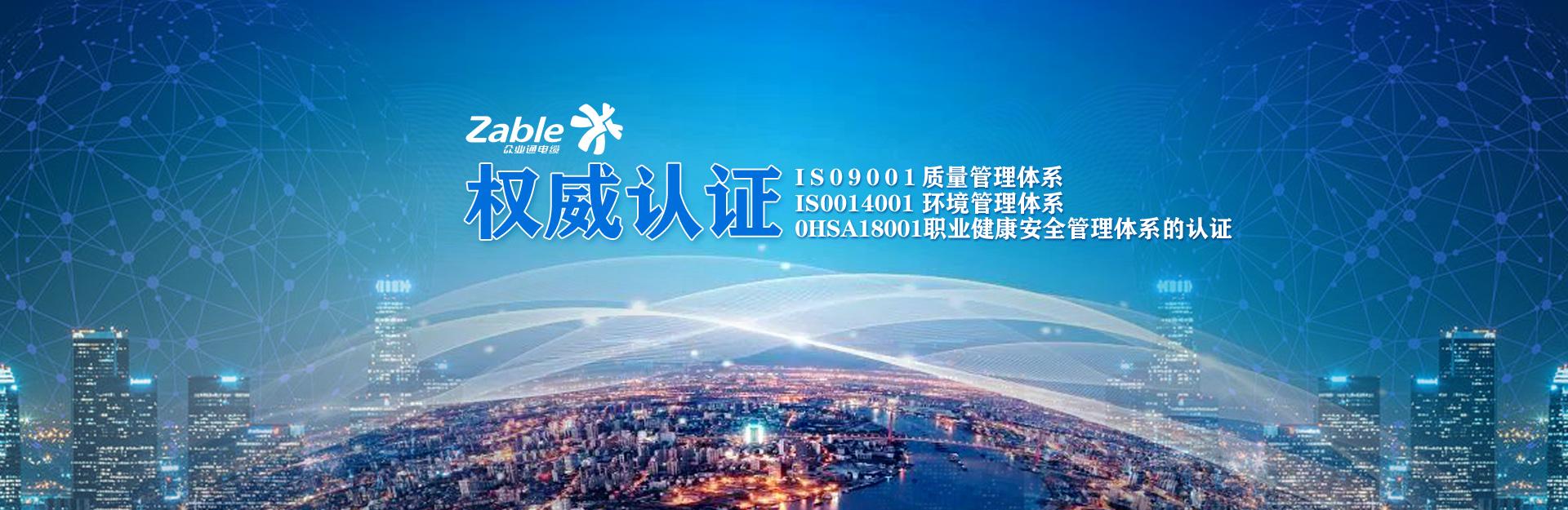 上海茄子app電纜股份有限公司體係認證