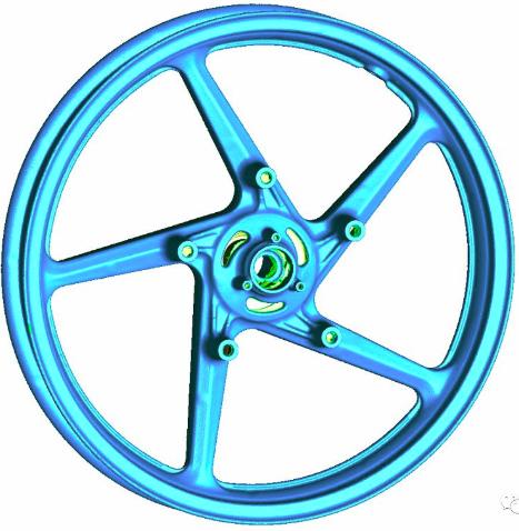手持式激光3D扫描仪汽车轮毂扫描检测