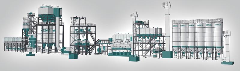 发泡陶瓷原料干法制备系统