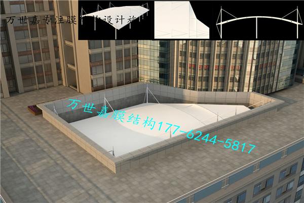 武汉卓尔集团顶楼休闲场所膜结构工程