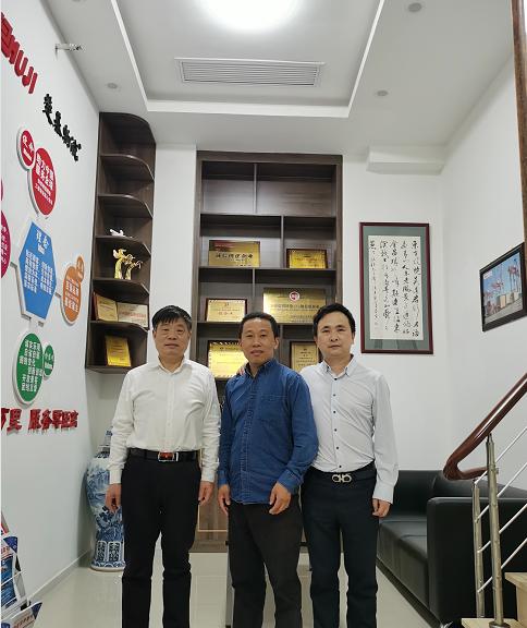 上海孝感商会领导走访楚基物流疫情期间公司建设