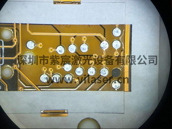 紫宸锡球激光自动焊锡机,FPC软板喷锡球效果展示