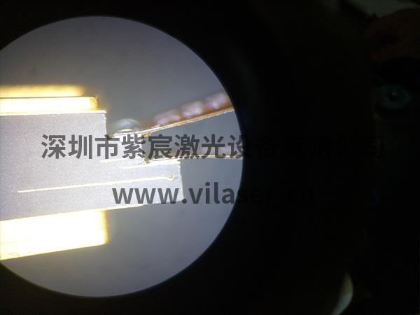 100G模块BOX与FPC焊接效果可见FPC紧贴BOX焊盘没有虚焊