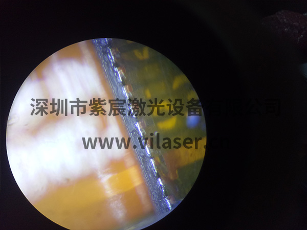 100G模块BOX与FPC焊接效果背面有锡证明无虚焊