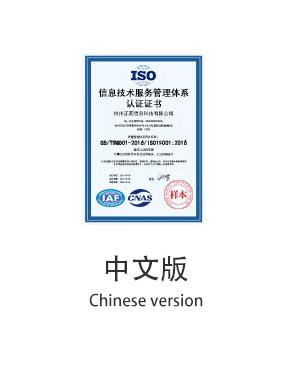 信息技术服务管理体系认证中文版
