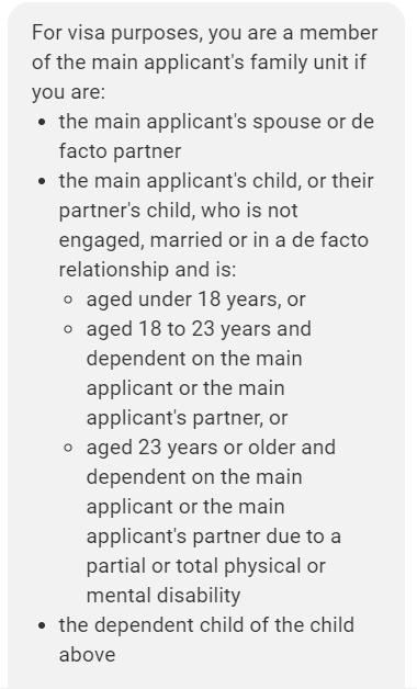 189签证副申请人