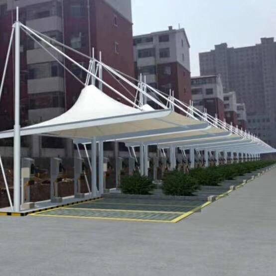 景观区膜结构停车棚
