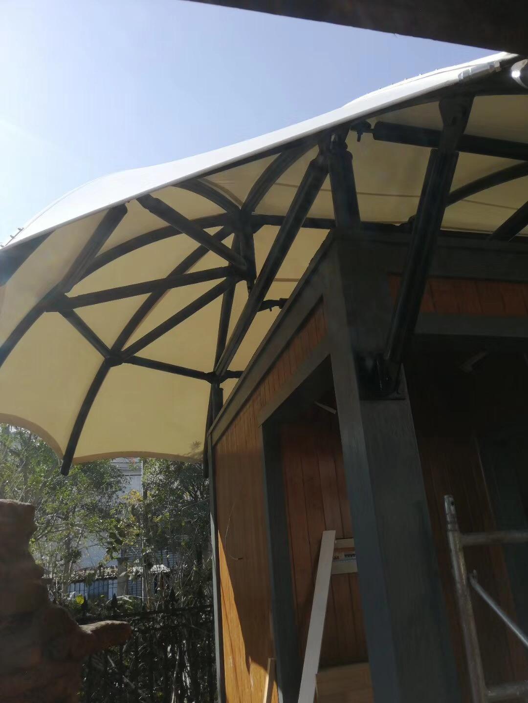 膜结构岗亭遮阳棚