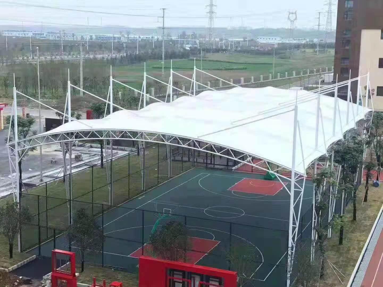 户外球场遮雨棚