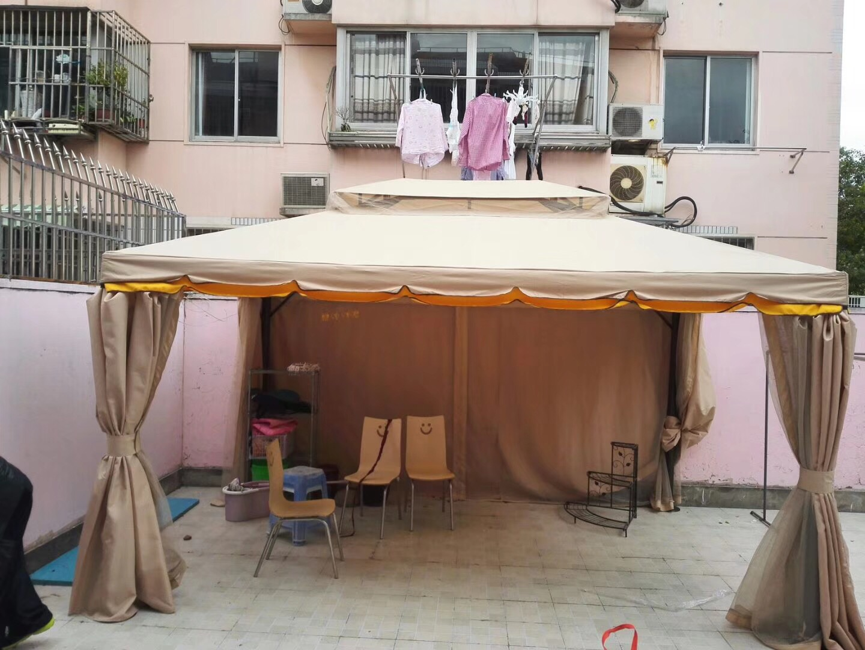 阳台花园遮阳防雨布帘