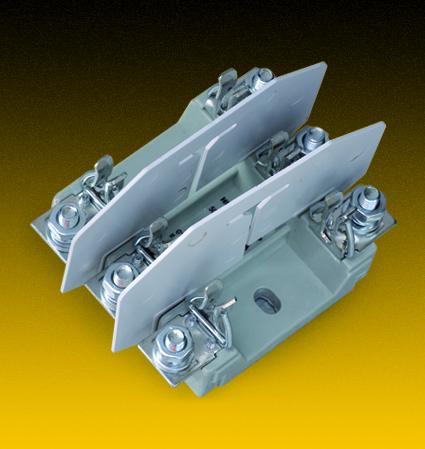 NHNT00模数化有填料方管刀型触头熔断座 NH NT00-3P 座