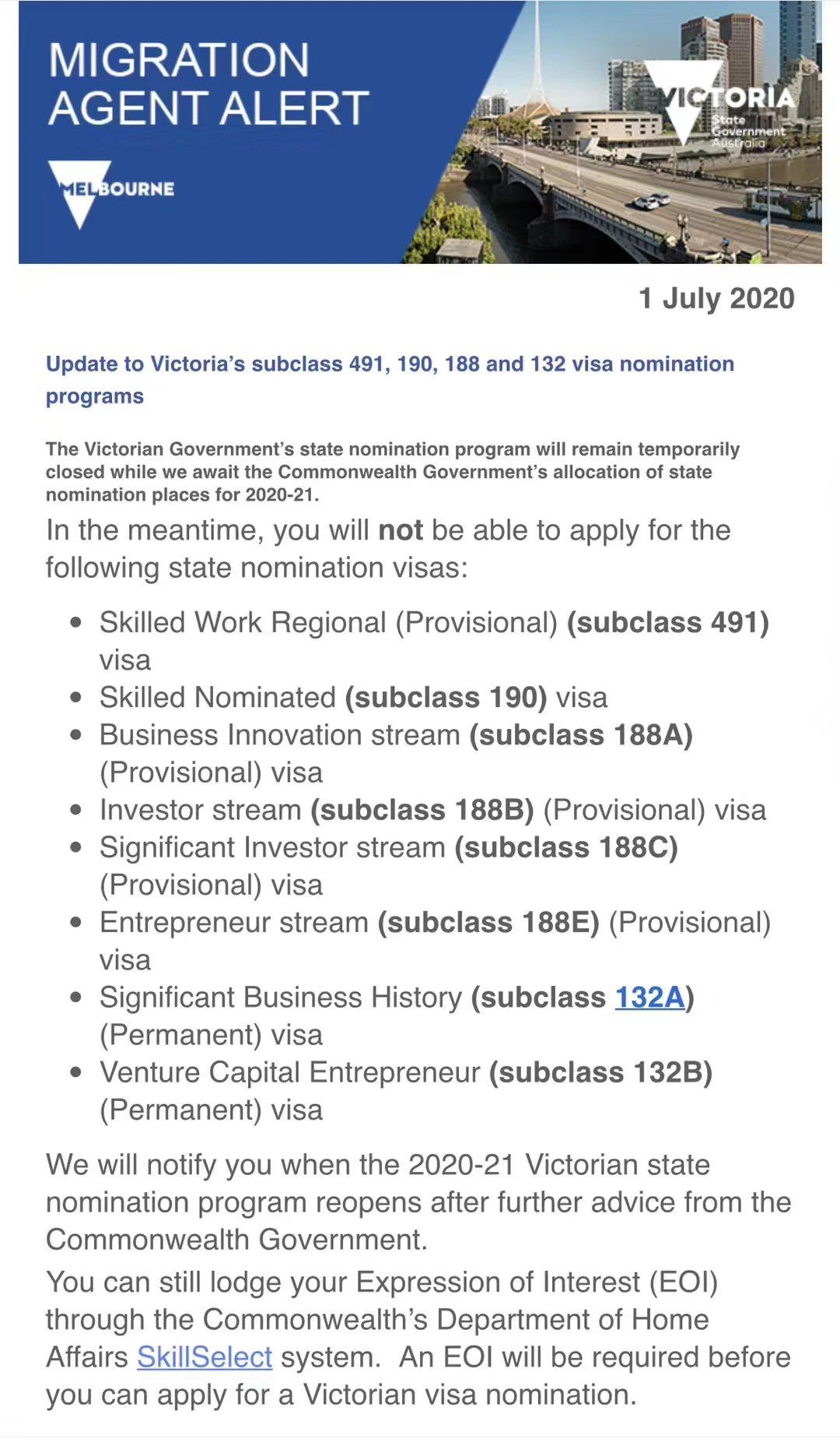 澳洲移民配额重置,新财年各州最新州担情况汇总-澳洲移民公司