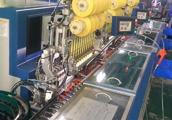 十六轴自动绕线机生产线