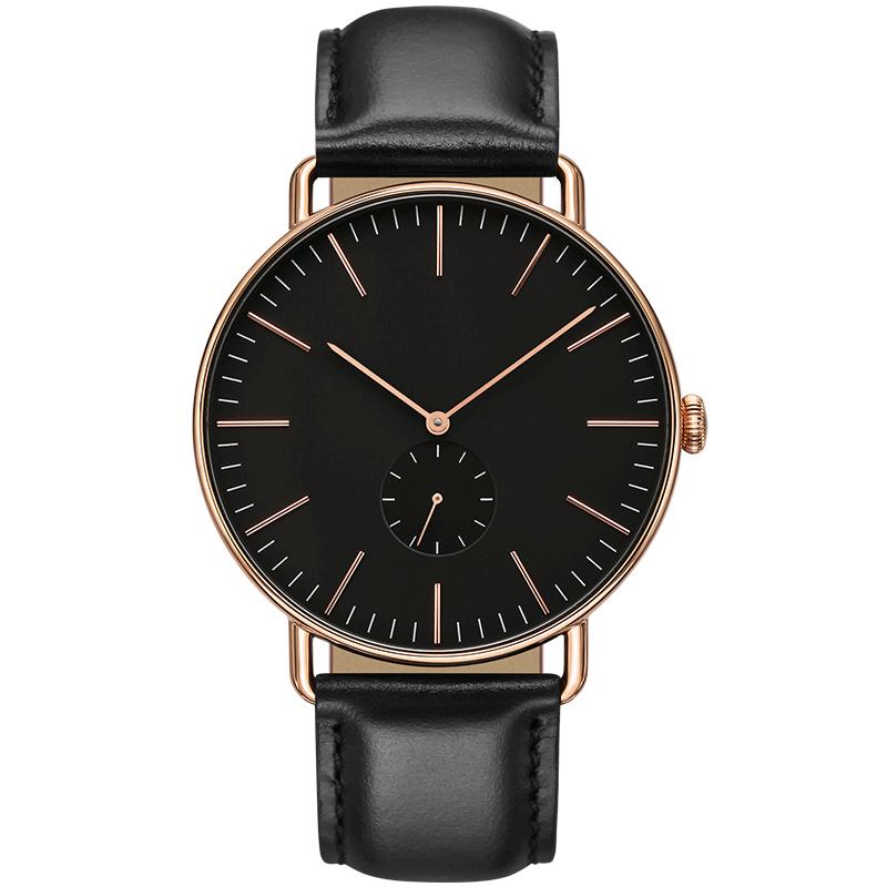 一件代发欧希顿品牌手表 男款极简DW风二针半男士手表学生表