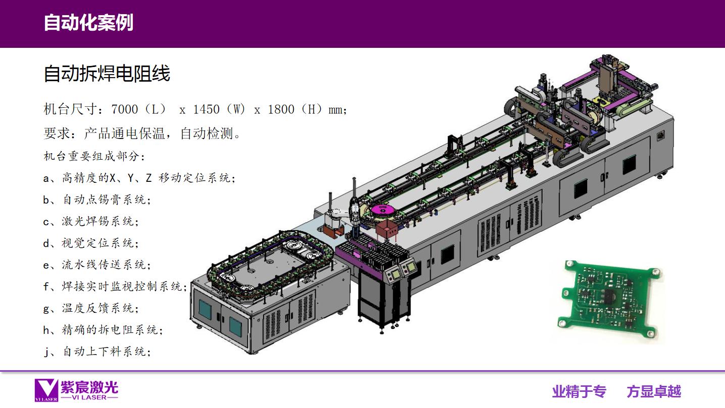 大型激光自动拆焊电阻线设备