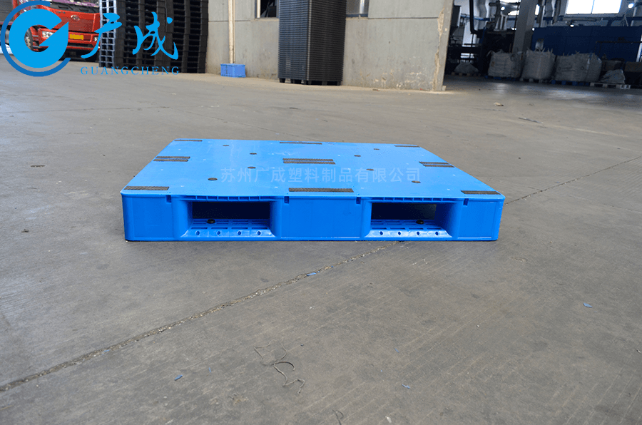 1210A一體成型平板川字塑料托盤1200長側面