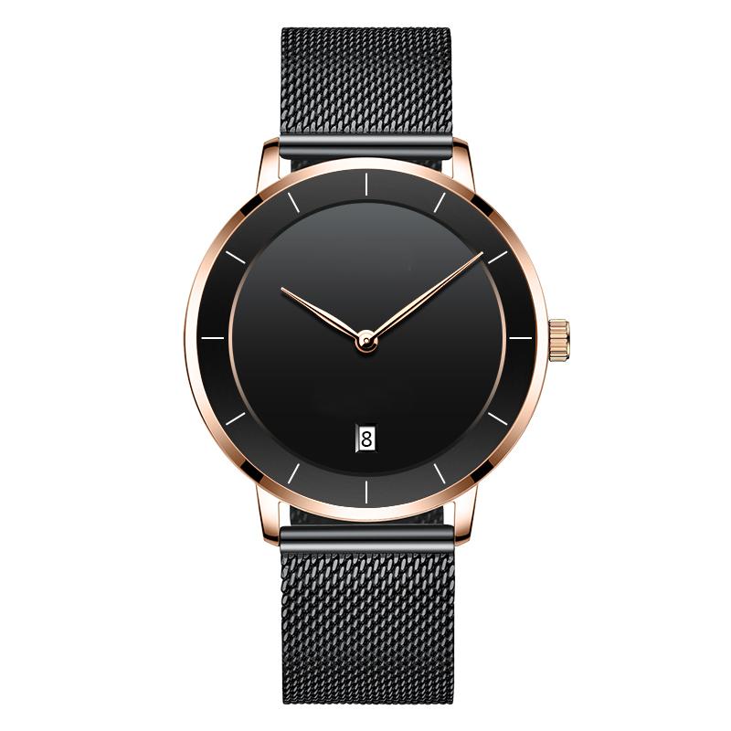 热销新款休闲商务二针带日历定制logo厂家直销外贸手表