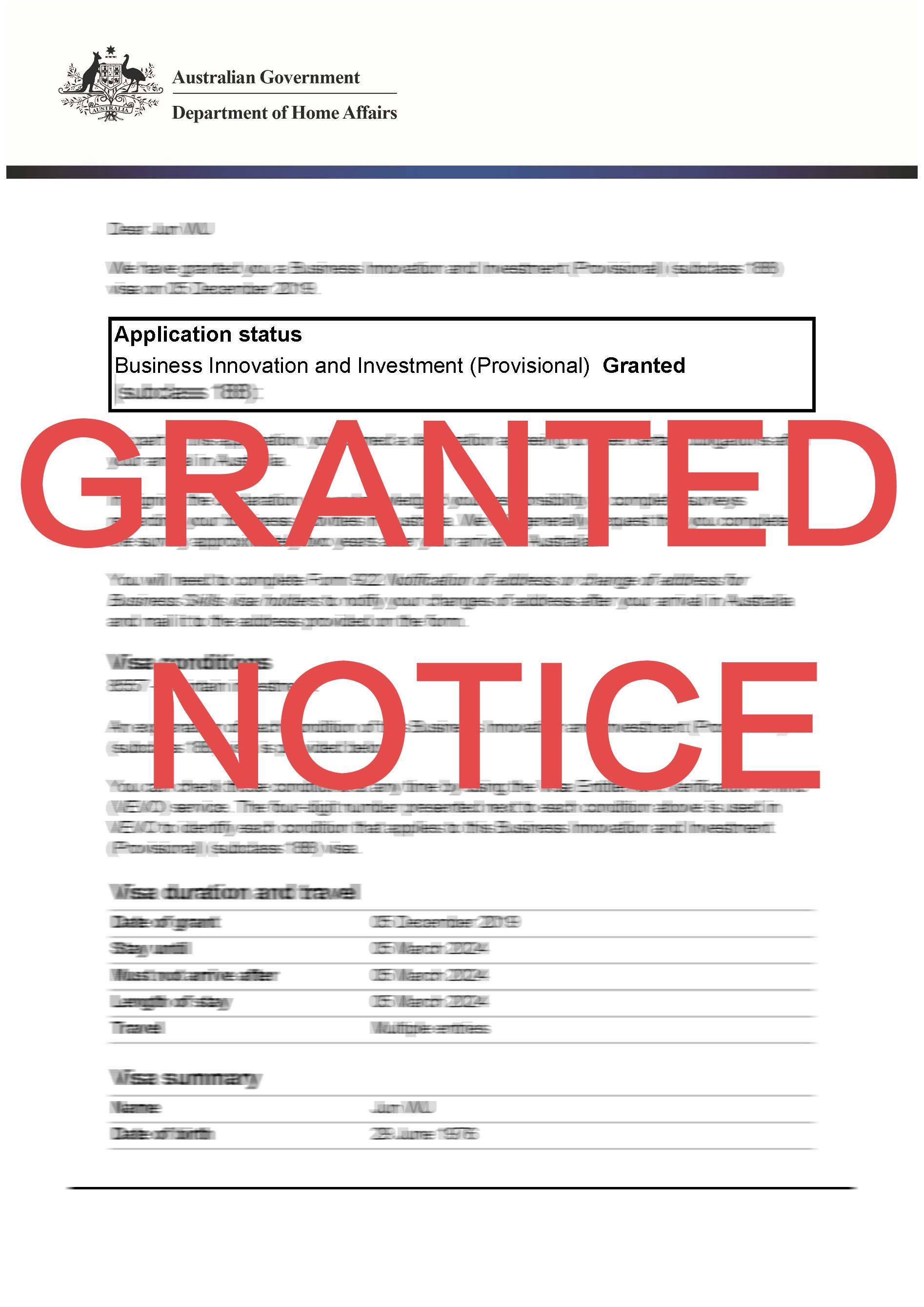 祝贺D先生出境豁免获得批准! D先生目前持有5年居民返程签证(155类别),属于长期在澳居住人士。 D先生在中国有生意,此次新冠疫情对企业的冲击不小,因此D先生急需回国参加董事会议,商讨应对方案。 虽