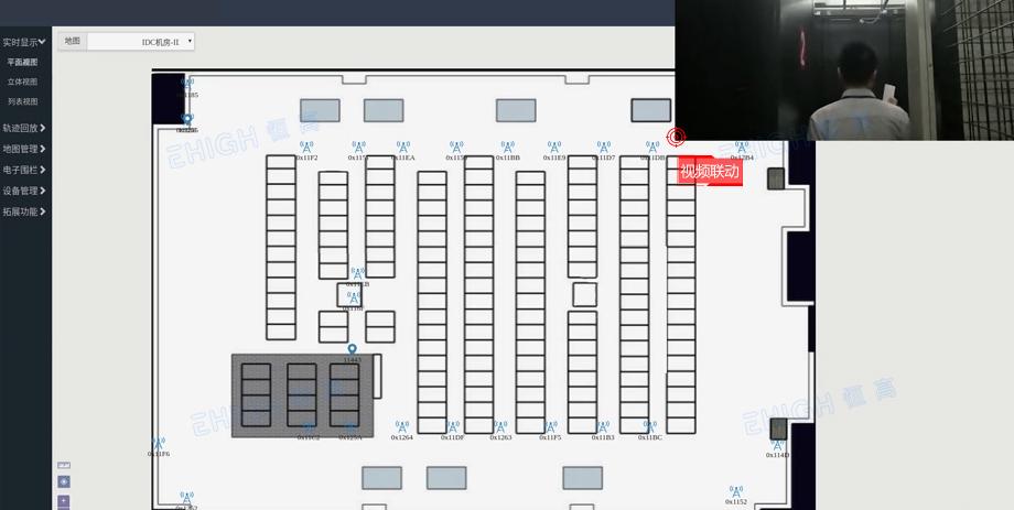 机房人员定位之视频联动