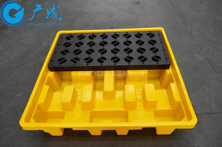 四桶装防漏托盘隔板安装