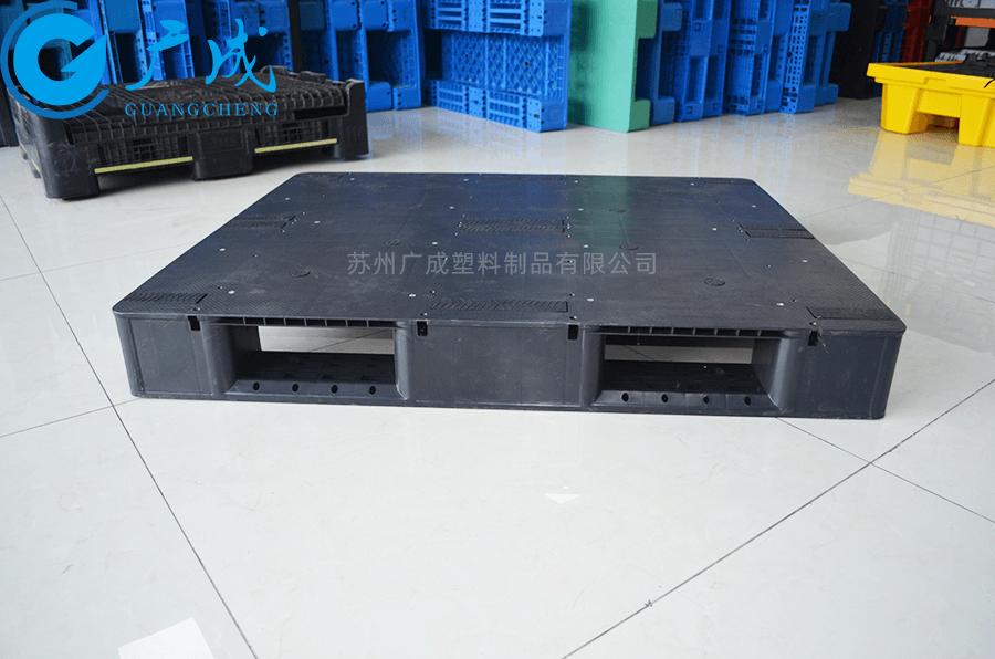 1210平板川字導電塑料托盤側邊