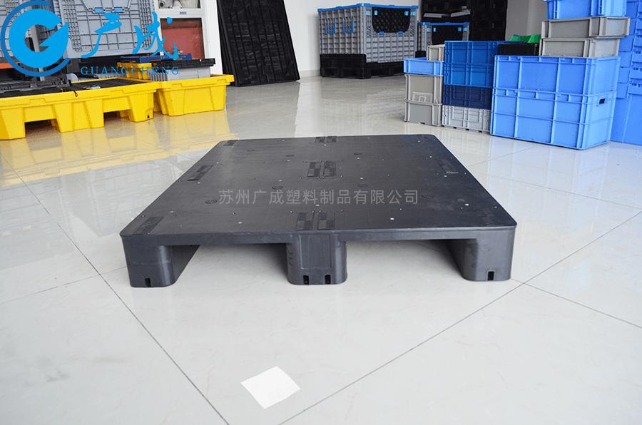 1210平板川字導電塑料托盤進叉口