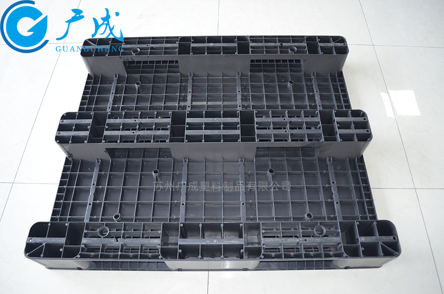 1210平板川字導電塑料托盤反面