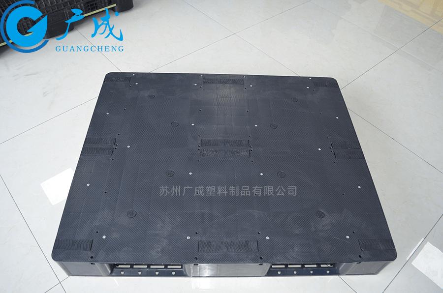 1210平板川字導電塑料托盤正面