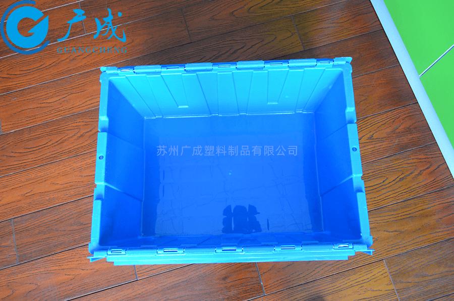 斜插式周轉箱兩邊蓋子打開細節