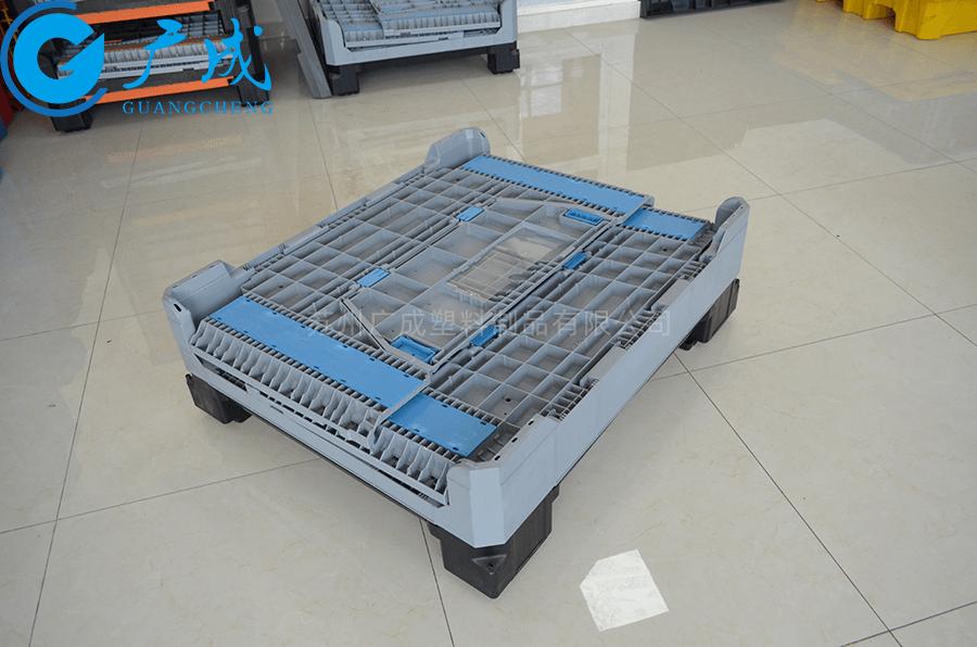 1210折疊卡板箱折疊特寫