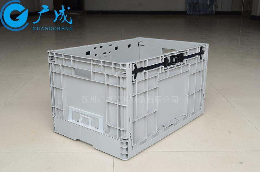 EUO4633折疊物流箱展開正面特寫