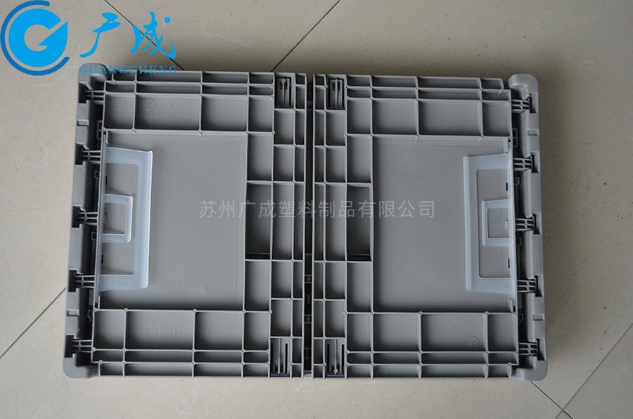 EUO4633折疊物流箱折疊后正面
