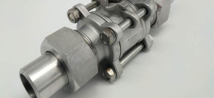 三片式外螺纹球阀阀座采用弹性密封结构