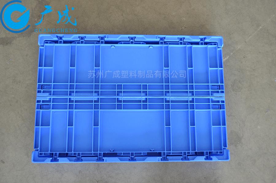S806A折疊物流箱折疊后正面