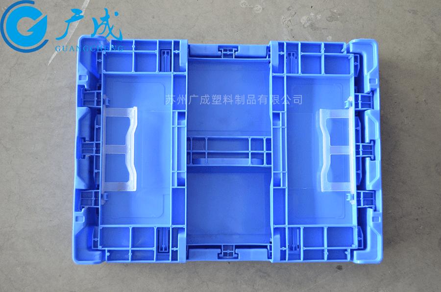 S903折疊物流箱折疊后正面