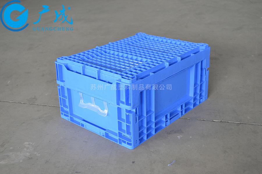 S903折疊物流箱反面
