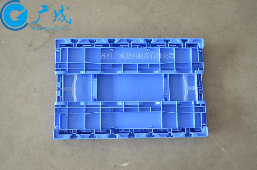 S503折疊物流箱折疊后正面