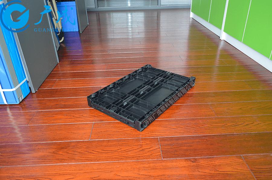 S504折疊箱折疊后特寫