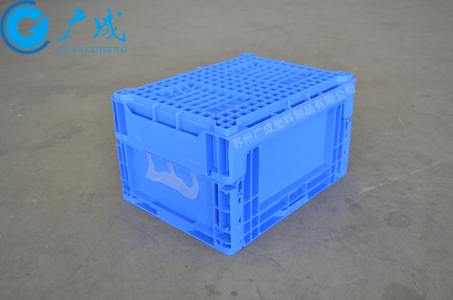 S603折疊物流箱反面