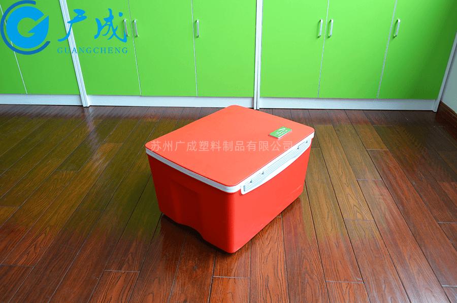 38升塑料保溫箱紅色實拍
