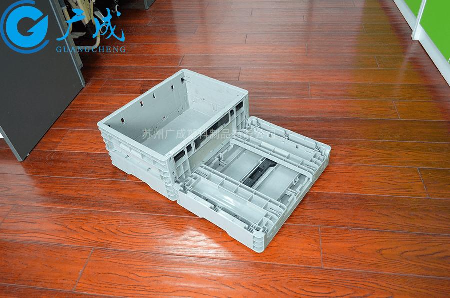 EUO4317折疊箱折疊展開高度對比