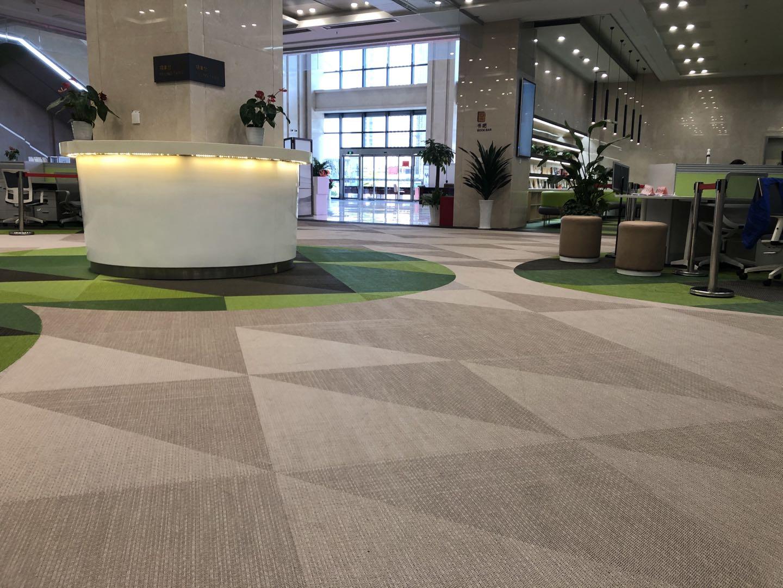 PVC编织地毯地板