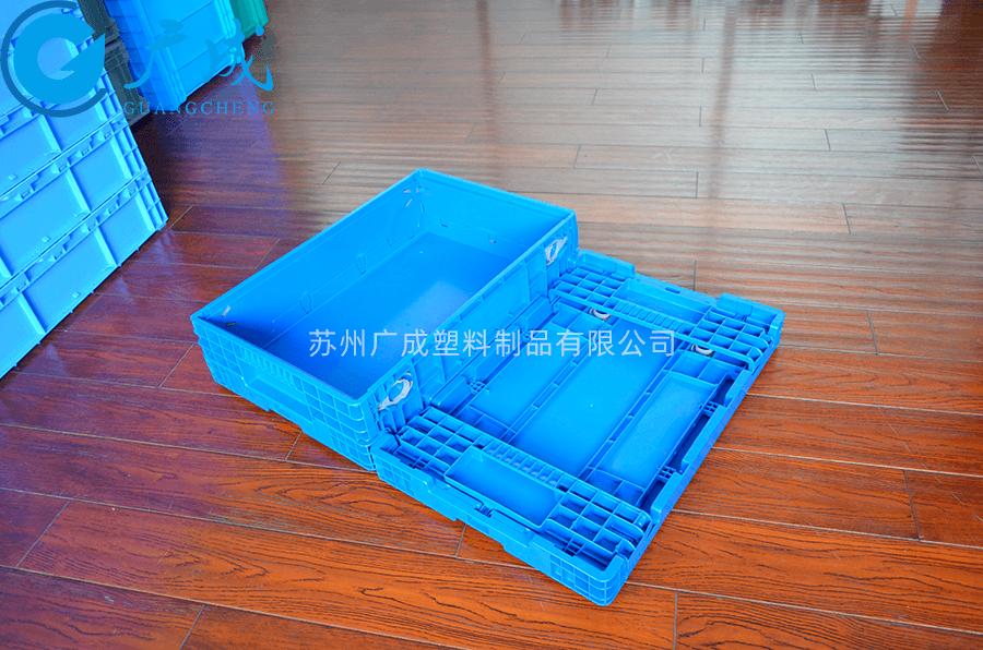 F6147折疊箱展開折疊對比
