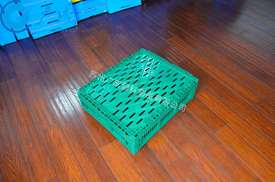600*500*170塑料折疊筐反面