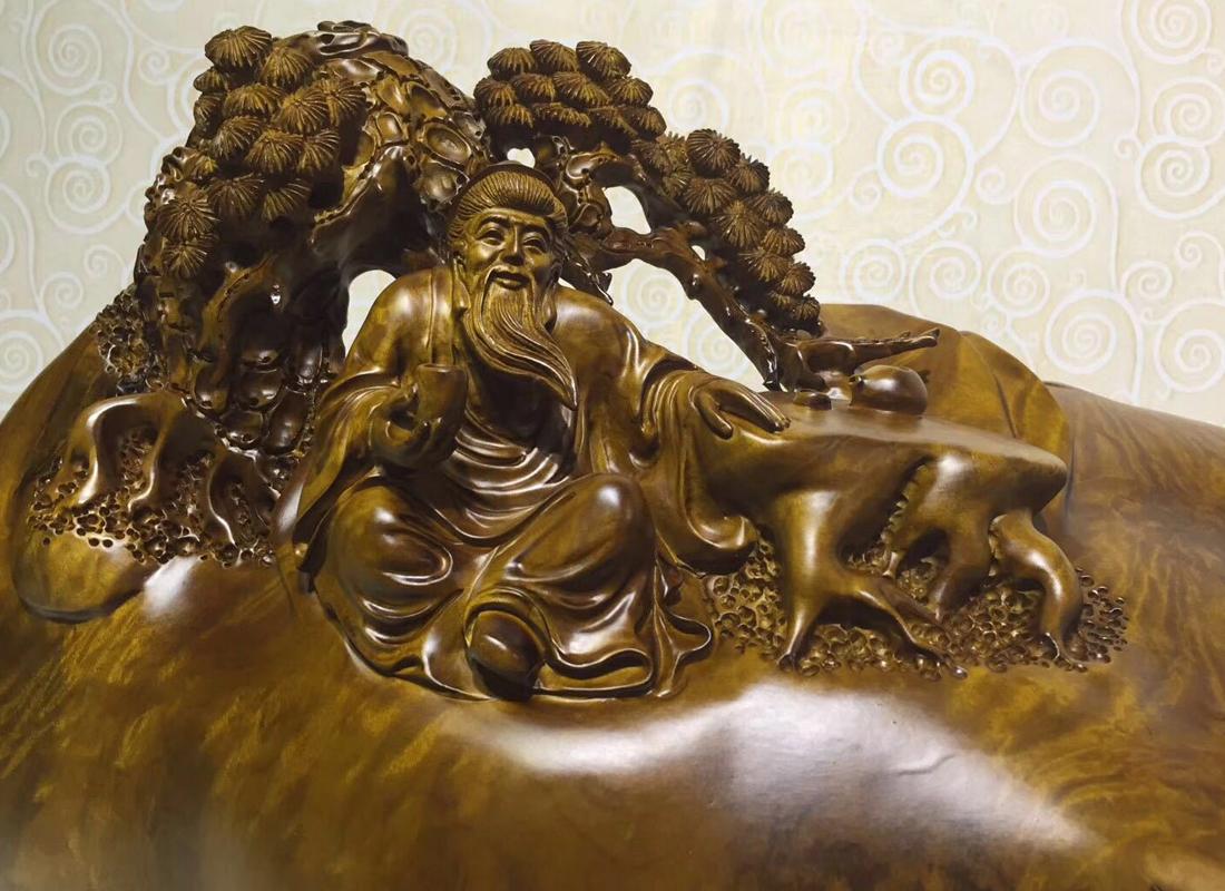 供应楠木根雕工艺品雕刻木质工艺品茶艺会所摆件饰品手工木雕定制